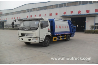 Cheap price Brand Dongfeng 4x2 120hp Euro3 compactor garbage truck price