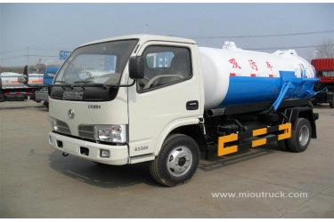 China Leading Brand  Dongfeng 4x2  tanker vacuum sewage suction truck