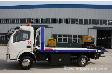 China high quality dongfeng 4x2 rollaway tow truck wrecker 120hp for rescuing broken cars for sale