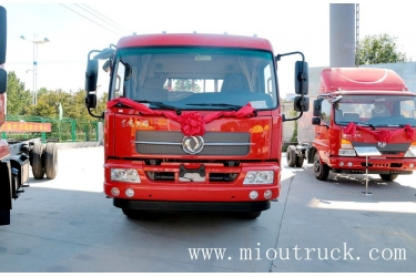 DFCV dongfeng tianjin qatar 160HP 6.75m semi-trailer tailgate carrier vehicle