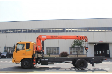 Dongfeng B07 truck mounted crane 7 ton 4X2 straight arm truck with crane China manufacturers