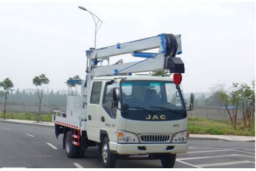 Double row 16 meters aerial platform vehicle