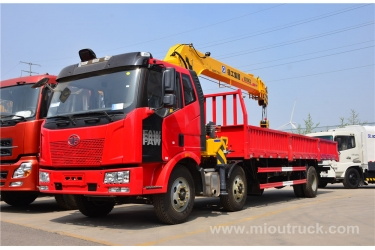 FAW 6*2 12 TON Telescopic boom Truck Mounted Crane For Sale