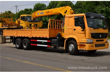 HOWO 6X4 truck mounted crane china supplier with good quality  for sale