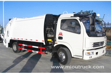 High Performance Dongfeng 8CBM small compactor garbage truck