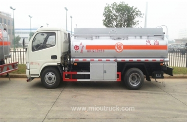 Hot sale 5000 litres small oil tanker, dongfeng  fuel tanker with fuel dispenser china manufacturers
