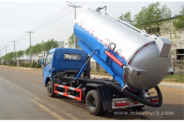 China Jiangling Motors 4X2 suction sewage truck, vacuum sewer cleaning vehicles  Sewage suction truck exporter
