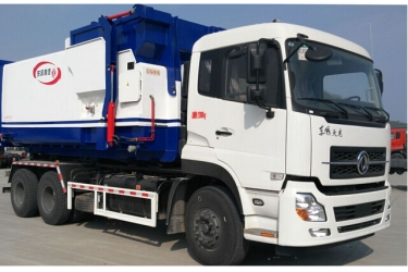 Most famous DongFeng Tian Long small removable garbage truck