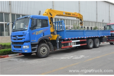 Hot  Sale   FAW  6x4  straight arm truck mounted crane china supplier with XCMG crane