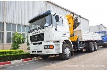 SHACMAN 6X4  truck mounted crane  China supplier good quality for sale