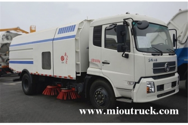 dongfeng 4x2 6 ton rated weight 7m³ street sweeper truck