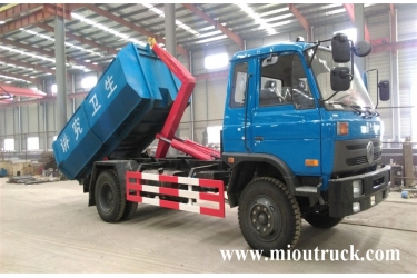 dongfeng 4x2 hook lift garbage truck for sale