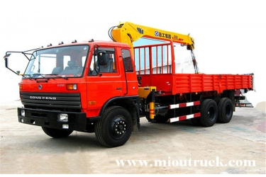 dongfeng 6x4 12 ton truck crane for sale