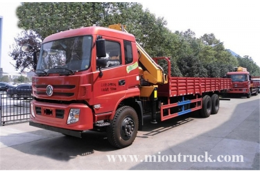dongfeng 6x4 folding type truck with crane 10ton