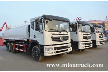 dongfeng 6x4 water truck 20 m³ volume capacity