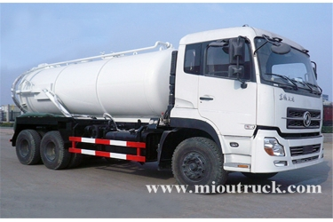 dongfeng kinland 6x4 drive type 16m³ volume capacity sewage suction truck for sale