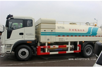 La fábrica de China 190 hp 4x2 dual fuel water tank truck