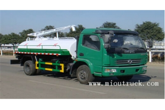 China 4x2 Drive Wheel New fecal suction truck Dongfeng 6500 liters sewage suction tanker sludge septic suction truck for sale factory