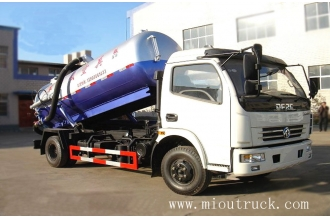 China 6CBM 4*2 4TON SEWAGE SUCTION TRUCK WITH 91KW POWER factory