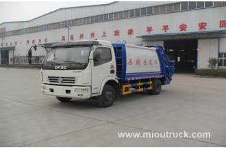 China Cheap price Brand Dongfeng 4x2 120hp Euro3 compactor garbage truck price factory