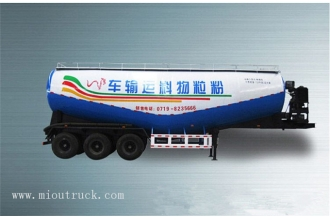 China China 3 Axles powder material bulk cement transport tanker truck semi-trailer factory