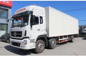 China Dong feng 245hp 6X2 Van Cargo Box Lorry Truck factory