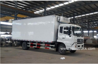 China Dongfeng 140 hp 4X2 mini refrigerator box truck for sale factory