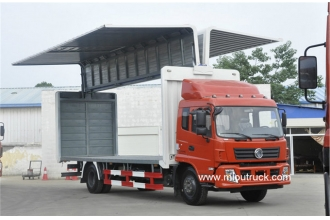 China Dongfeng 180 hp 4X2 7.7 M wing open van trucks factory