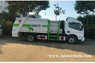 La fábrica de China Dongfeng 4x2 6 m³ Dump Type Garbage Truck