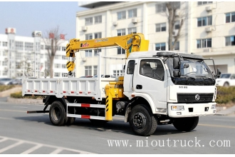 China Dongfeng 5t straight arm EQ5160JSQZM1  dump truck mounted crane factory