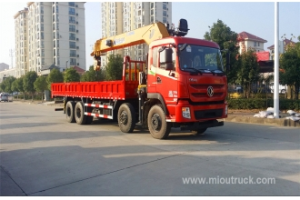 China Dongfeng commercial crane truck 8x4 truck with XCMG crane 16 ton factory