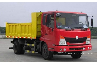 China Dongfeng commercial light truck 140 hp 4.65 m dump truck factory