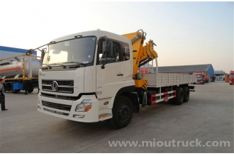 China Dongfeng king-land crane truck 6x4 truck with crane mounted crane price for sale factory