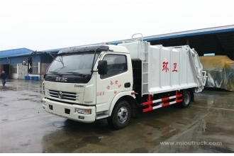 China Dongfeng  small compactor Truck new design 4x2  garbage truck small garbage truck factory