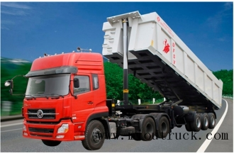 China Dongfeng three front axle dump semi-trailer for sale factory
