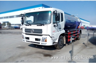 China Dongfeng tianjin CLW5160GXWD4  10CBM  Euor4 sewage suction truck factory