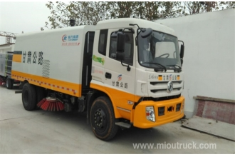 China Euro 3 Emission standard Dongfeng 4*2 road sweeping truck 210 horsepower for sale factory