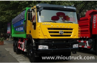 China Hongyan 6x4 336hp dumper garbage truck for sale factory