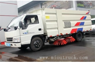 China JMC 4x2 Chassis road sweeper truck , advanced mobile sweeper truck on hot sale factory