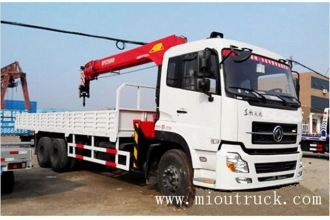 China kilang Sany 10Ton crane with dump truck