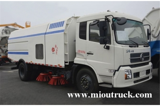 China dongfeng 4x2 6 ton rated weight 7m³ street sweeper truck factory