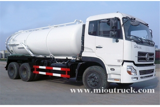China dongfeng kinland 6x4 drive type 16m³ volume capacity sewage suction truck for sale factory