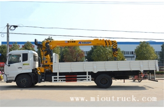 China dongfeng tianjin 4x2 8000kg lifting weight truck crane for sale factory