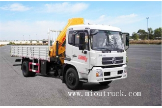 中国flatbed tow truck wrecker with crane for sale工厂